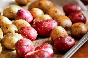 Cooked Potatoes on Cookie Sheet-1